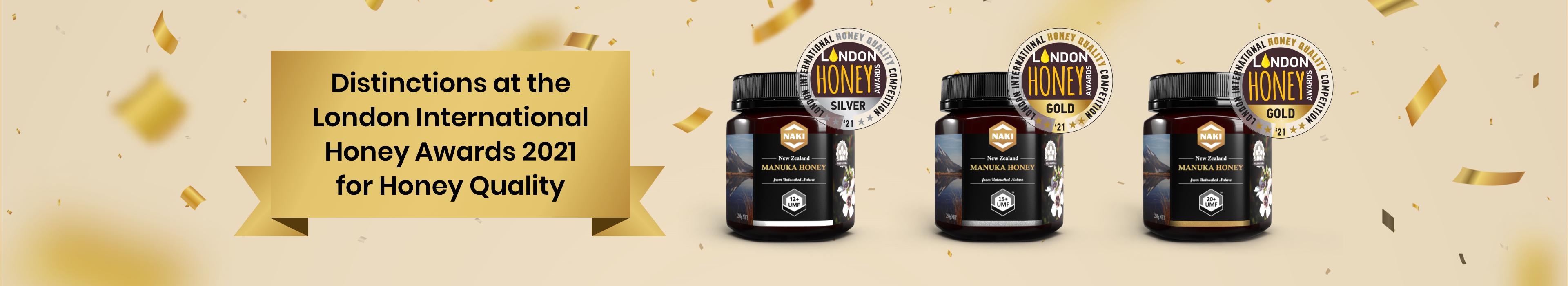 Distinctions at the london international honey awards 2021 for honey quality
